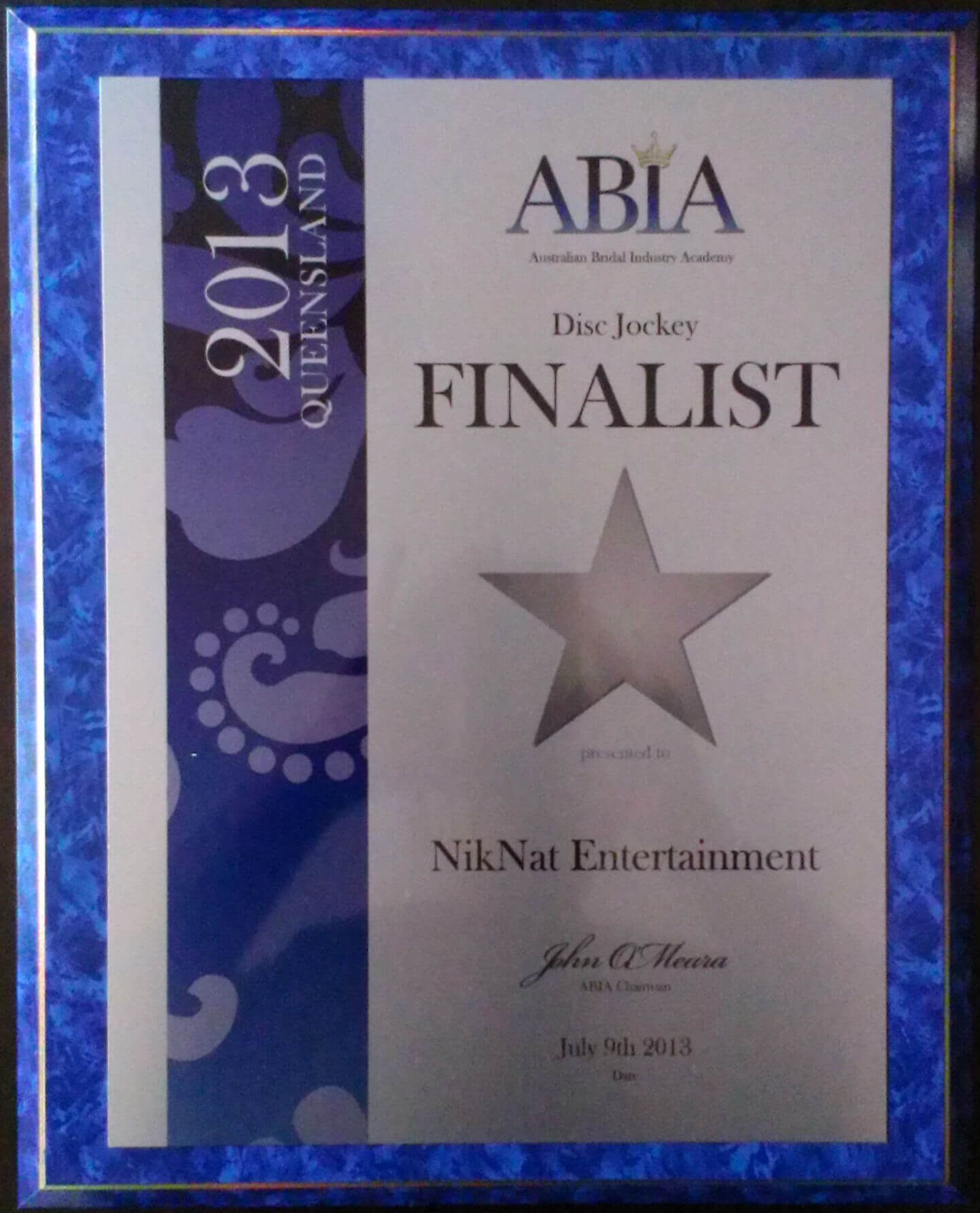 NikNat Entertainment's ABIA Award 2013