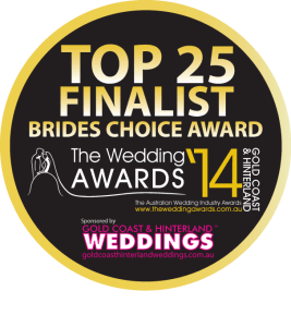 2014 Top 25 Award for Brides Choice of the Gold Coast