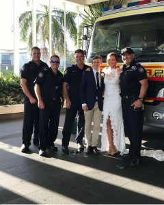 Fire brigade at wedding